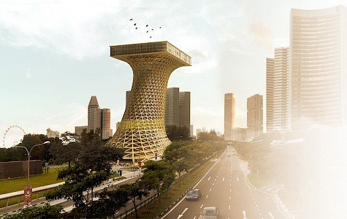 Liong Lie architects Bamboo Skyscraper exterior