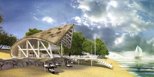 Liong Lie architects Dar es Salaam Yacht Club exterior beach