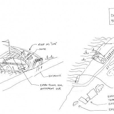 Liong Lie architects Dar es Salaam Yacht Club concept sketch