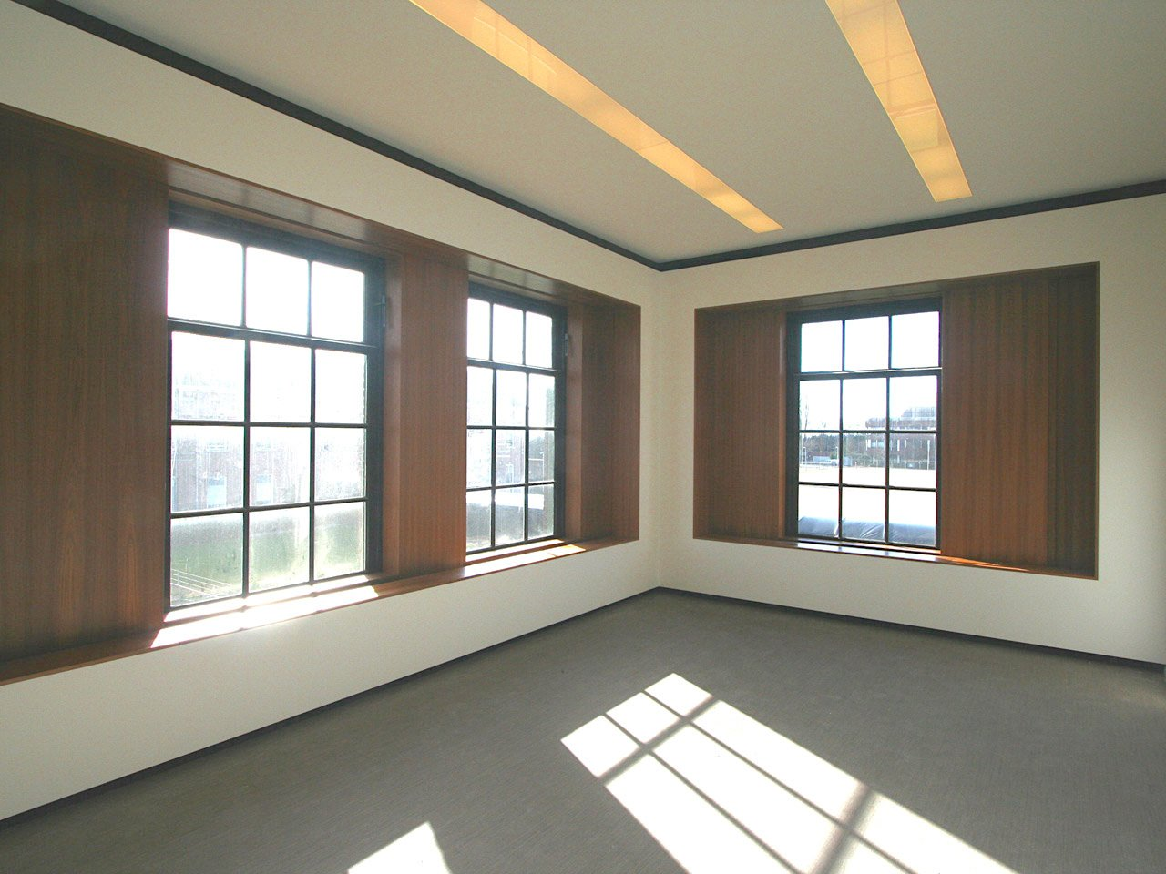 Liong Lie architects Taets interior meeting room wooden sliding window panels
