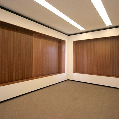 Liong Lie architects Taets interior meeting room closed wooden sliding window panels
