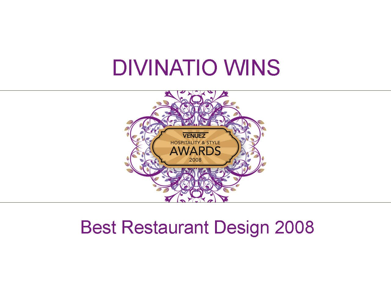 Venuez Best Restaurant Design 2008